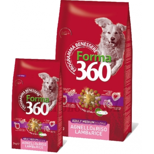 Benessere dog Forma adult jehně + rýže medium 12kg